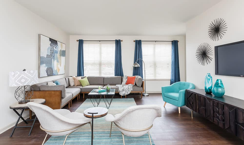 Light and bright living room at Fairview at Town Center