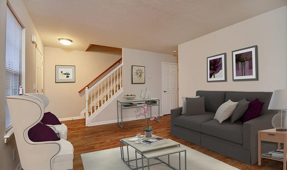 Open floor plan space at Lion's Gate Townhomes in Red Lion