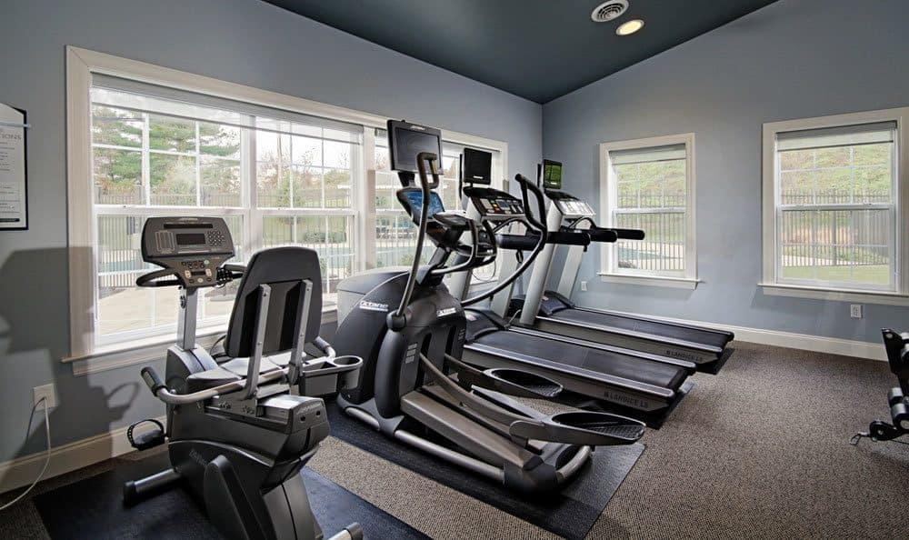 Fitness center at Emerald Pointe Townhomes