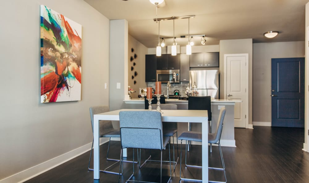 Elegant dining room at Seattle apartments