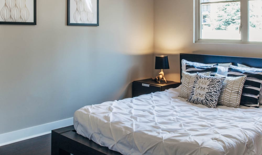 Comfortable bedroom in our Seattle, WA apartments