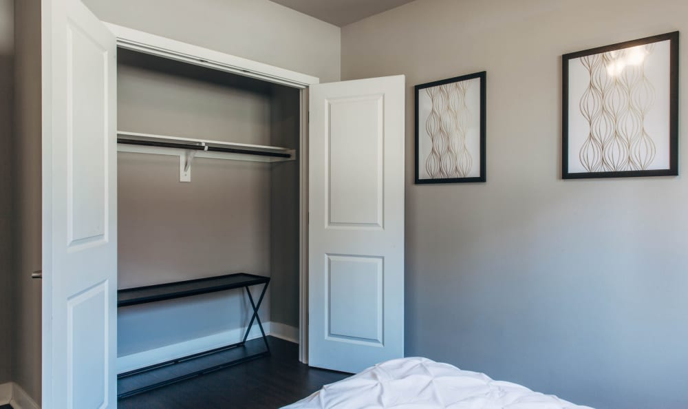 Example closet bedroom in our Seattle, WA apartments