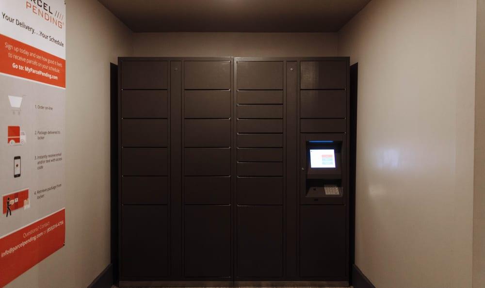 Package locker at Marq 211