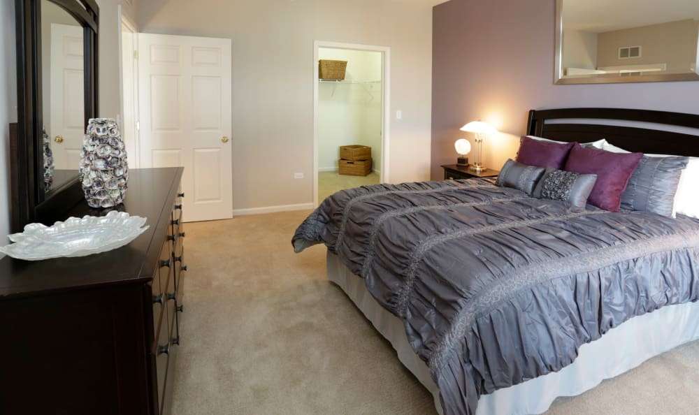 Another large bedroom in model home at The Preserve at Osprey Lake