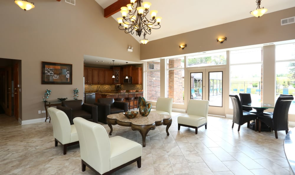 Gorgeous and welcoming interior at our leasing center at The Preserve at Osprey Lake