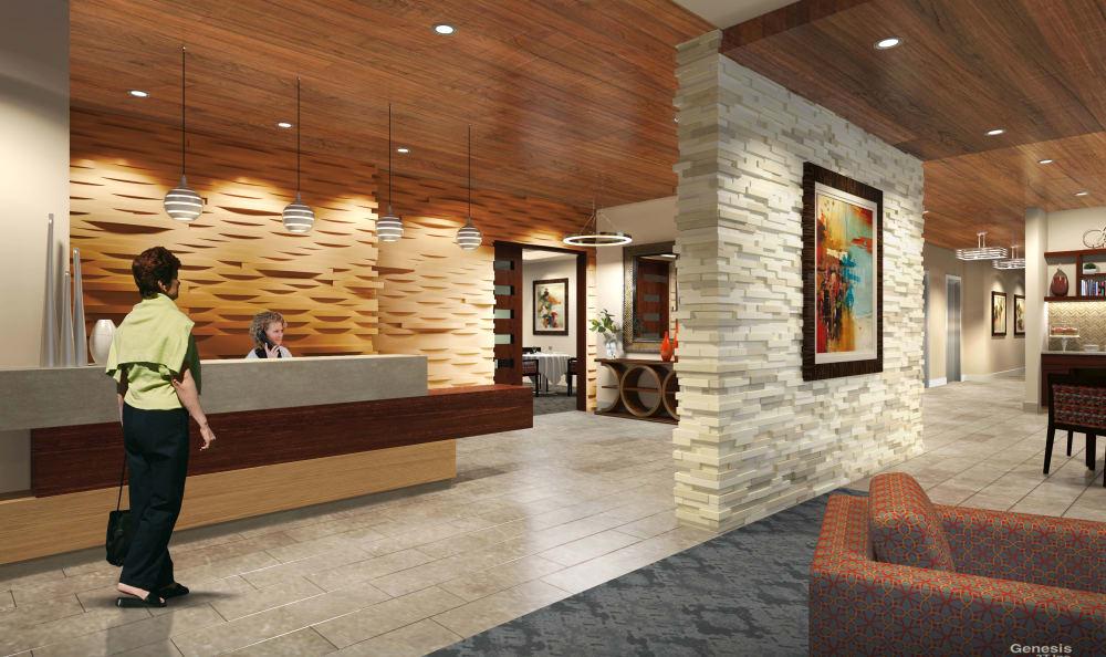 Reception desk at The Retreat at Sunny Vista in Colorado Springs, CO