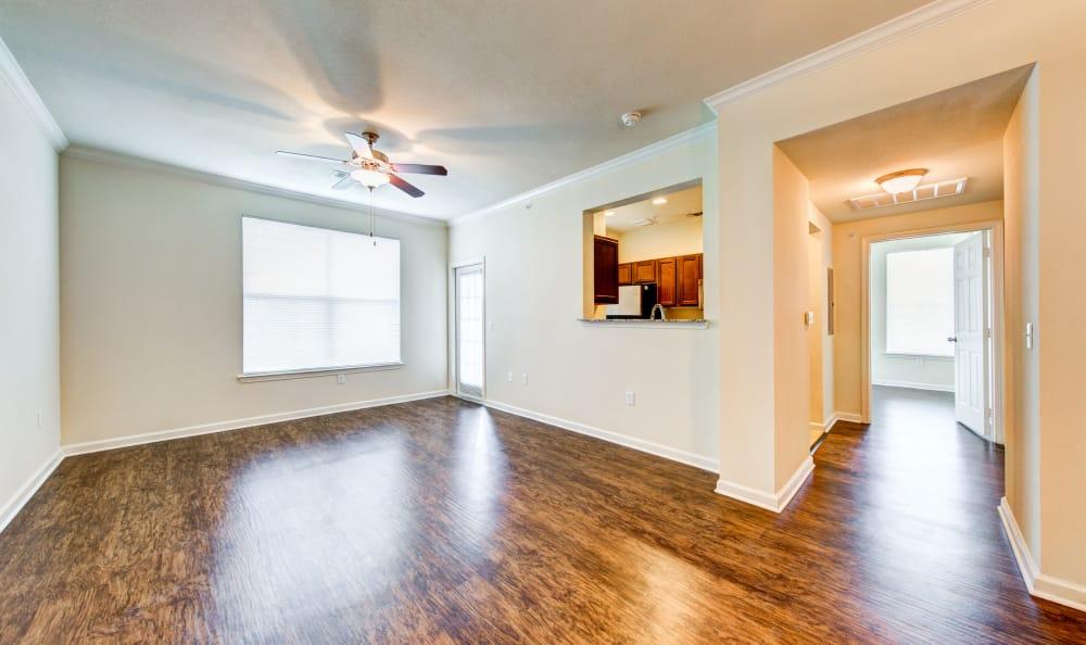Nice hardwood floors in our San Antonio, TX apartments