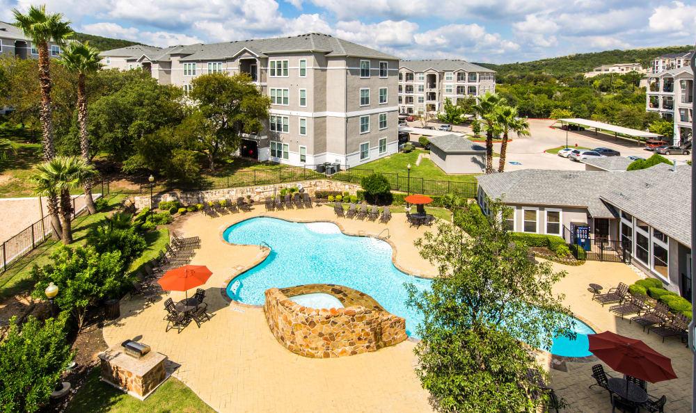 Pool at apartments in San Antonio