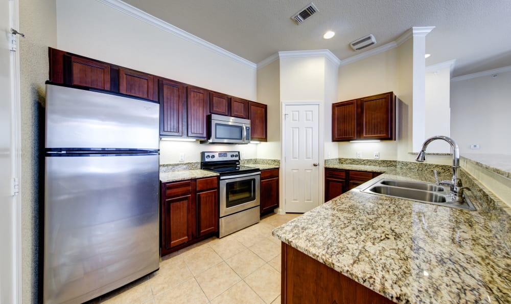 Example kitchen at Marquis at Crown Ridge