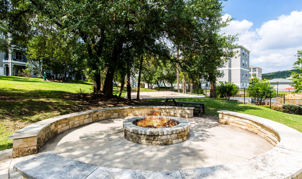 Fire pit at apartments in San Antonio, TX
