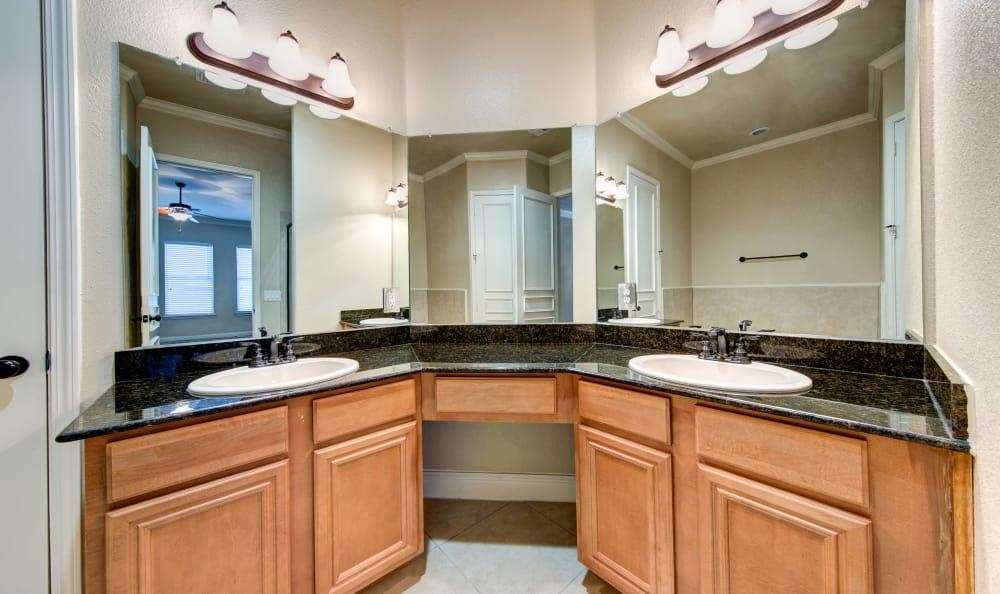 Example bathroom at apartments in San Antonio