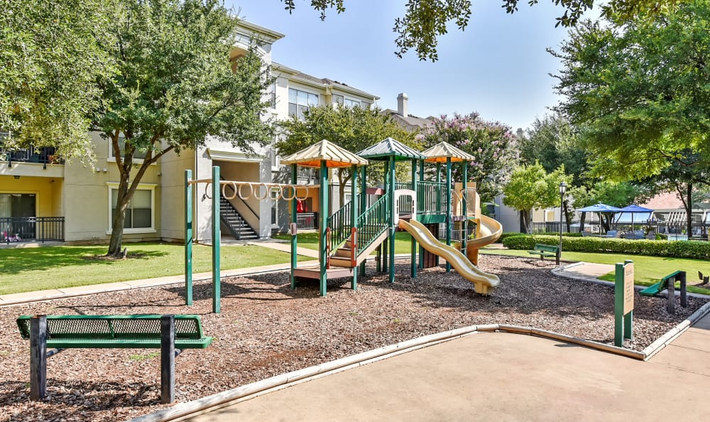 On-site playground at Abbey at Vista Ridge Apartments in Lewisville