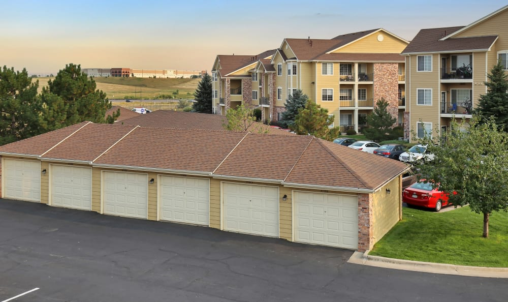 Dove Valley Apartments offers garages in Englewood, Colorado