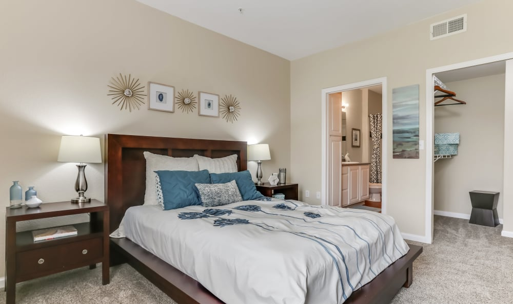 Spacious bedroom at apartments in Englewood, Colorado