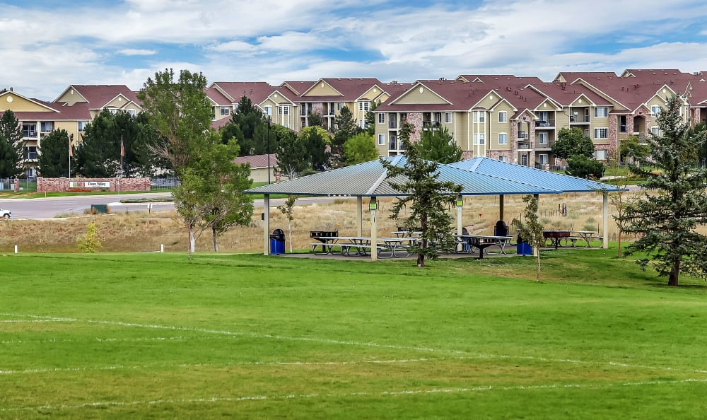 Community Park of apartments in Englewood, CO