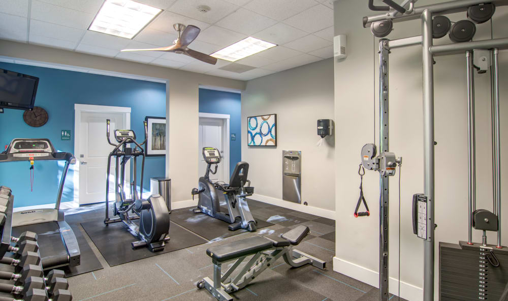 Another angle of our fitness center at Sofi at Forest Heights