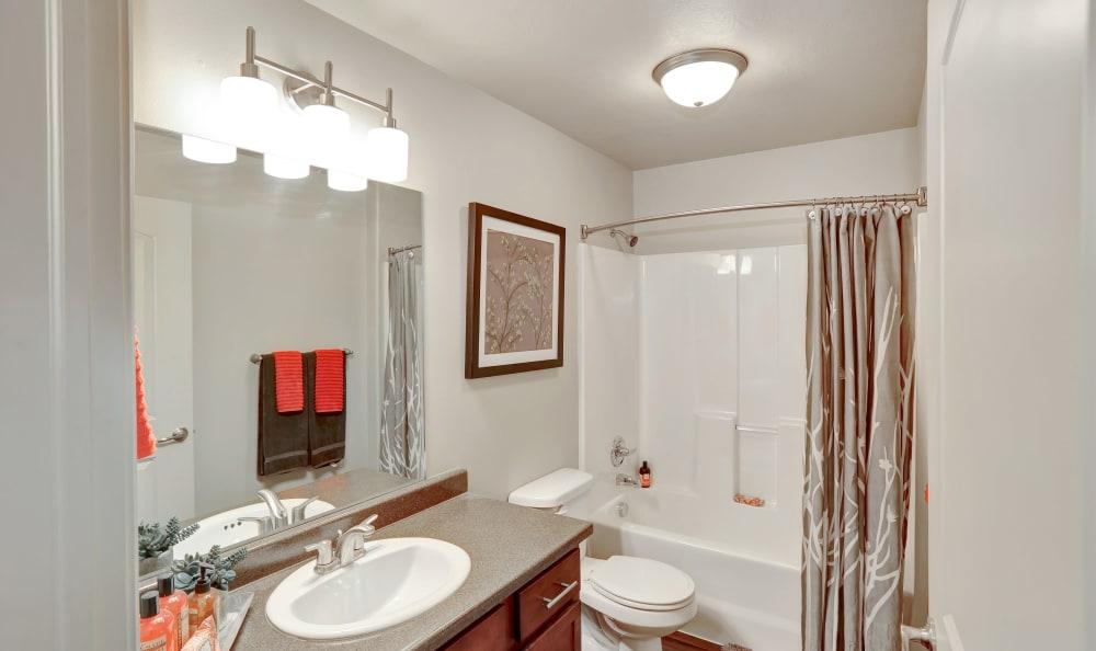 Nice clean bathroom in our Salt Lake City, UT apartments