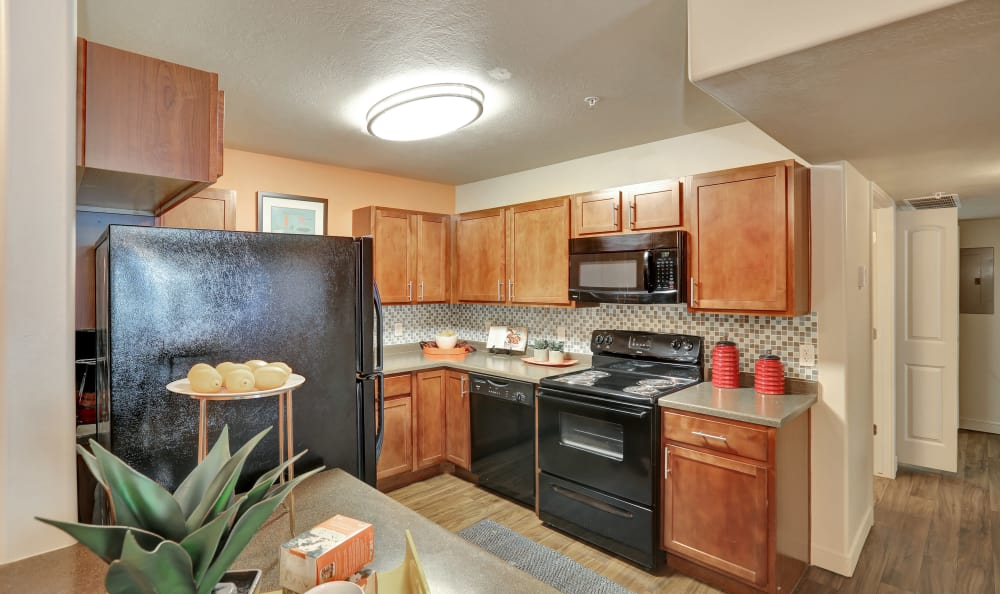 Nice clean kitchen in our Salt Lake City, UT apartments
