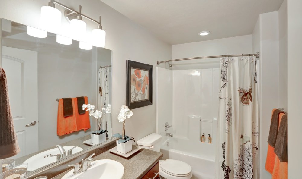 Example bathroom at apartments in Salt Lake City