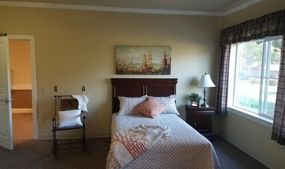 Spacious bedroom at Empire Ranch Alzheimer's Special Care Center in Folsom, CA