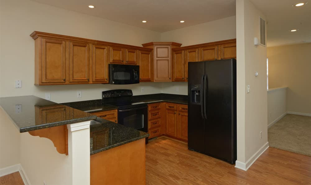 The Reserve apartments in Evansville shocase a beautiful kitchen