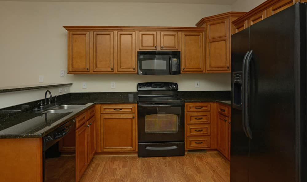 Fully equipped kitchen at The Reserve apartments