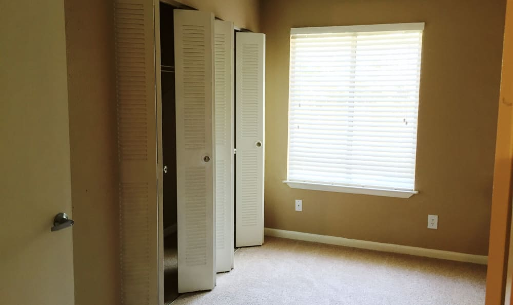 Plenty of closet space in apartment homes at Abbots Glen in Norcross