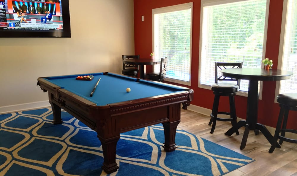 If you like billiards, you'll love our clubhouse at Abbots Glen!