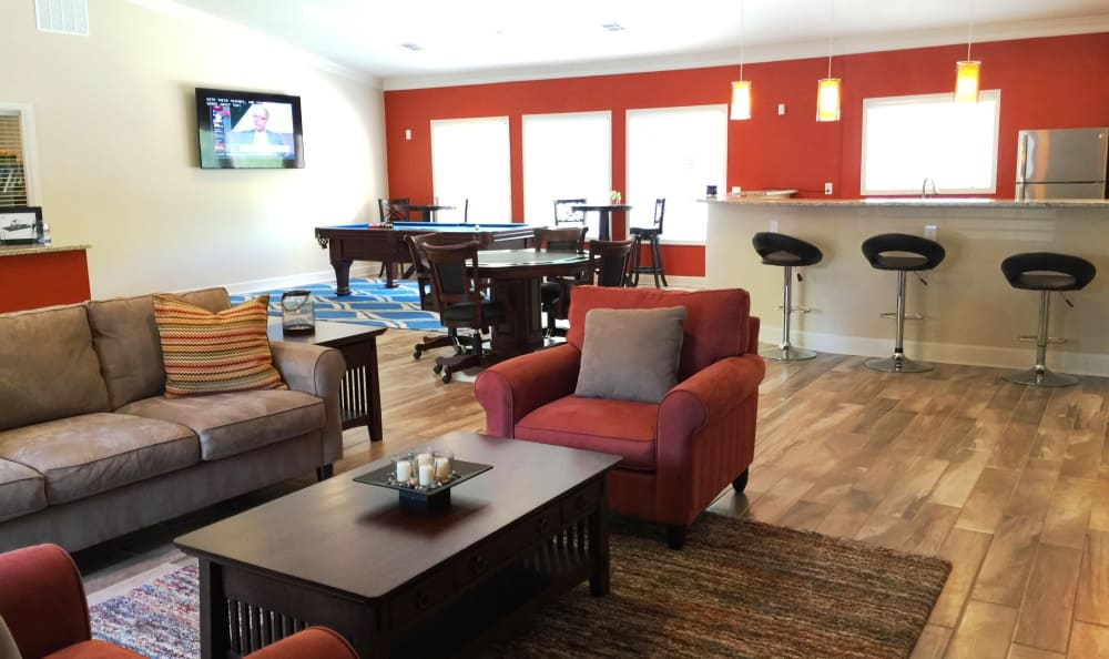 Beautiful and spacious clubhouse at Abbots Glen in Norcross