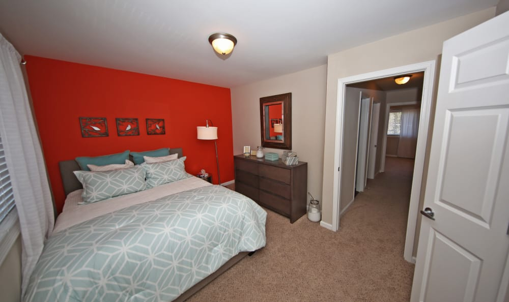 Spacious and well-decorated bedroom at The Broadway at East Atlanta