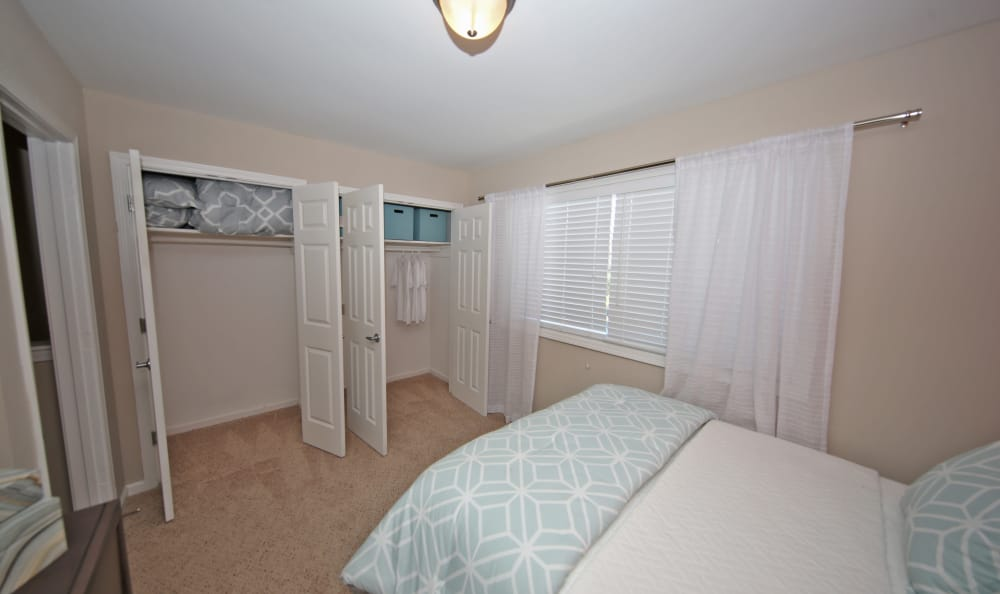 Large bedroom with plenty of closet space at The Broadway at East Atlanta