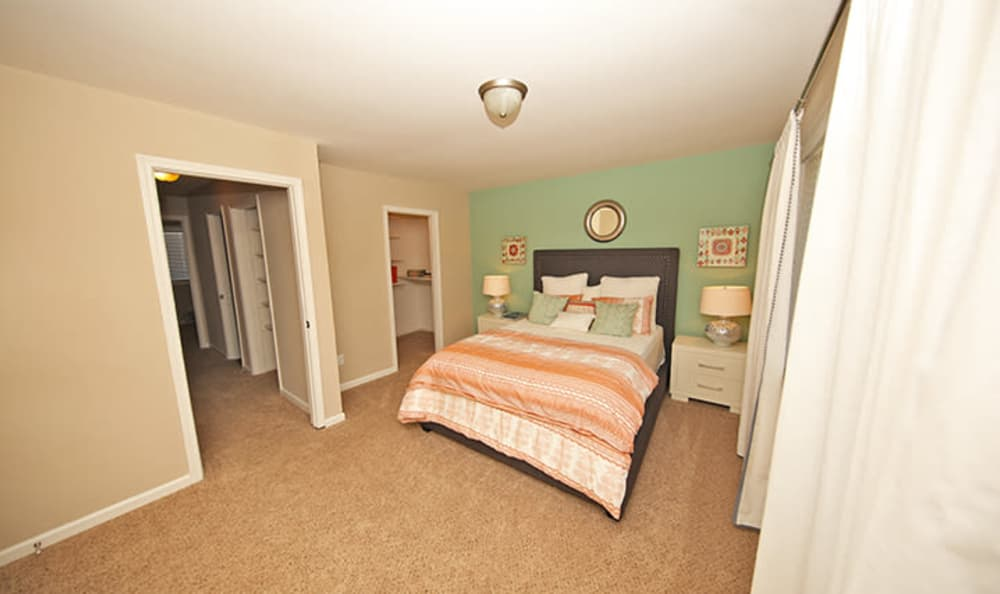 Another bedroom view in model home at The Broadway at East Atlanta