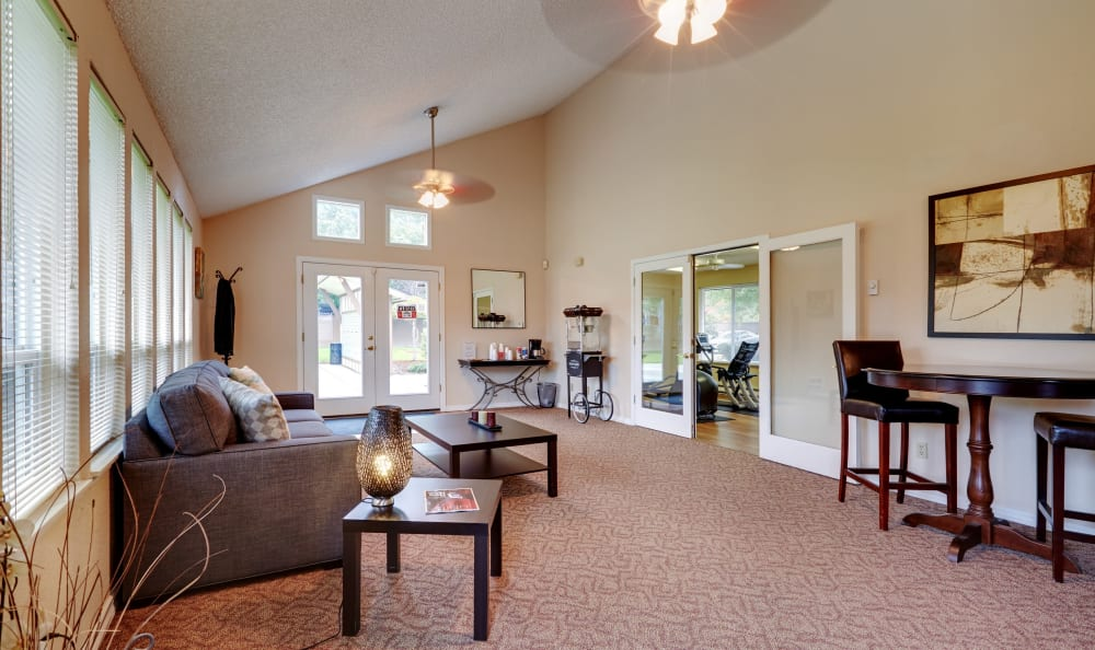 Interior clubhouse view at Arbor Chase Apartment Homes