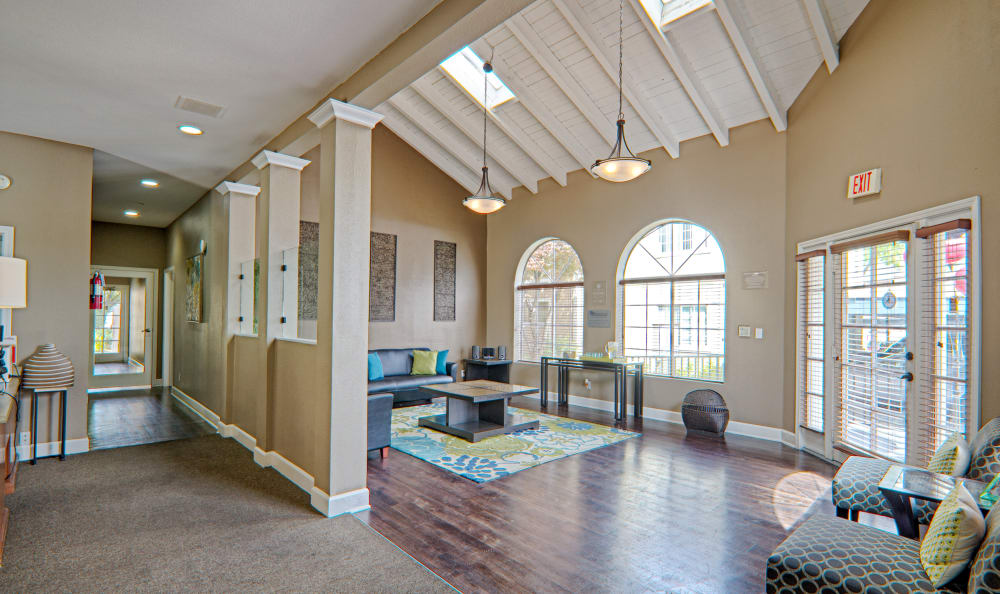 Interior clubhouse view at Cordova Park Apartment Homes in Lancaster, CA