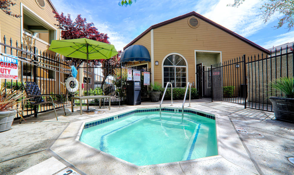 One of our four hot tubs at Cordova Park Apartment Homes in Lancaster, CA