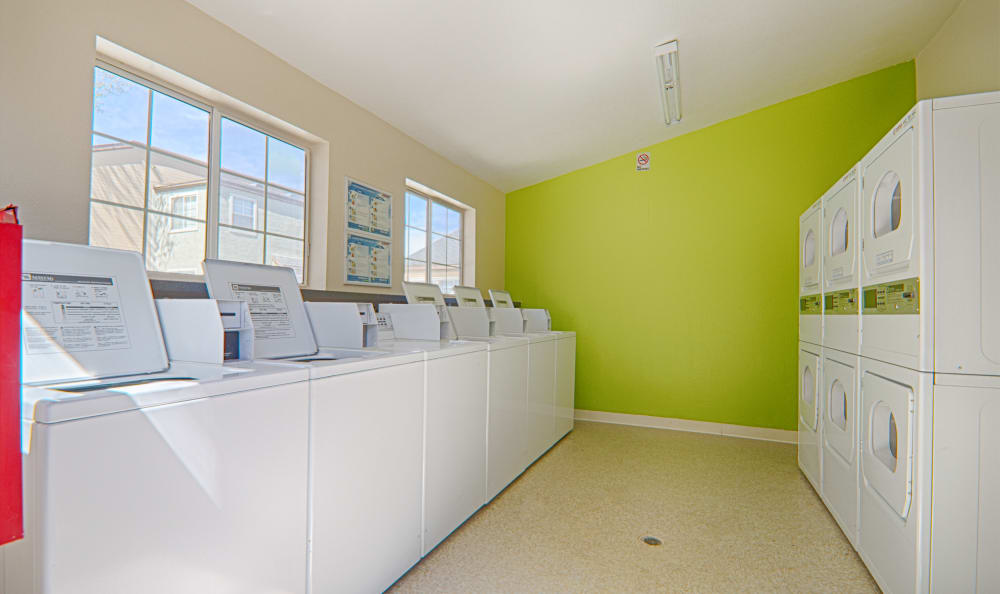 On-site laundry facilities at Cordova Park Apartment Homes in Lancaster, CA