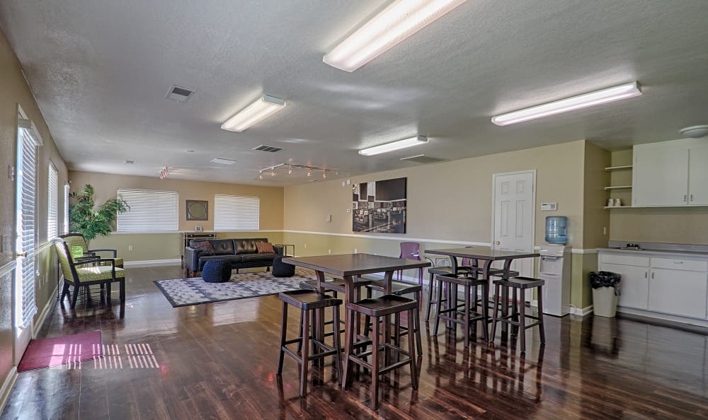 Clubhouse interior view at Country Hills Apartment Homes