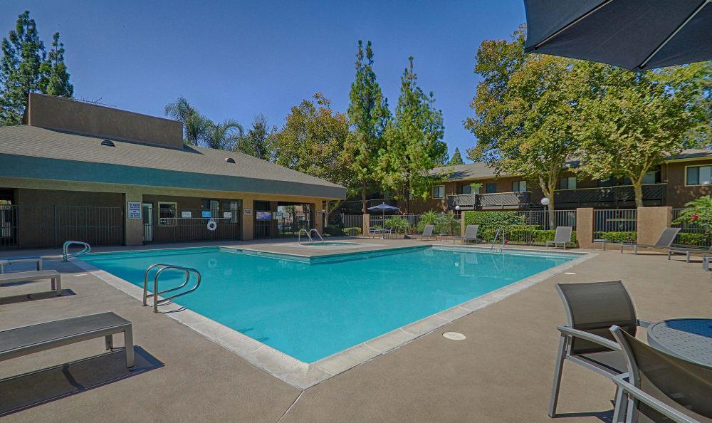 Closer view of the pool at Creekside Village Apartment Homes in San Bernardino, CA