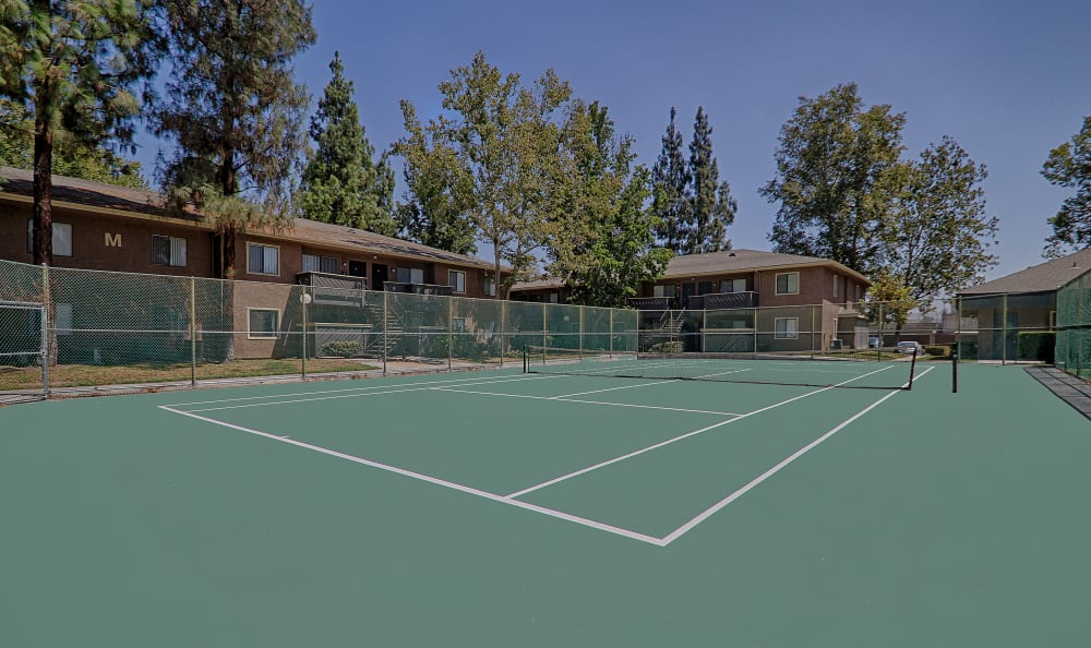 One of our on-site tennis courts at Creekside Village Apartment Homes in San Bernardino, CA