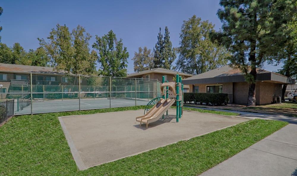On-site playground at Creekside Village Apartment Homes in San Bernardino, CA