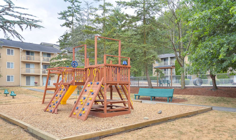 Onsite playground at The Boulevard at South Station Apartment Homes in Tukwila, Washington