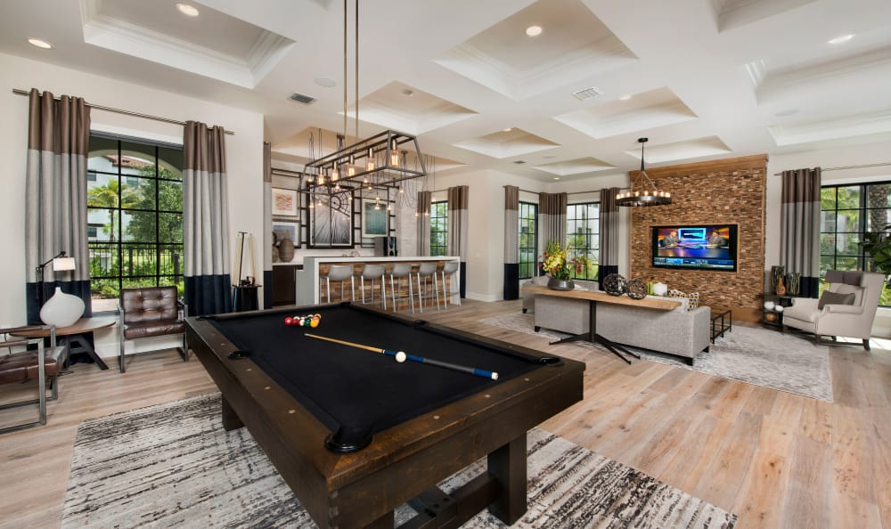 Shoot some pool with friends in the clubhouse at Casa Vera