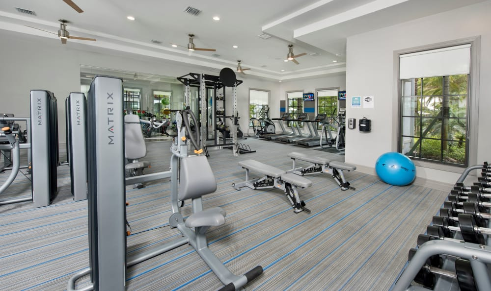 Stay healthy and fit in our well-equipped fitness center at Casa Vera in Miami