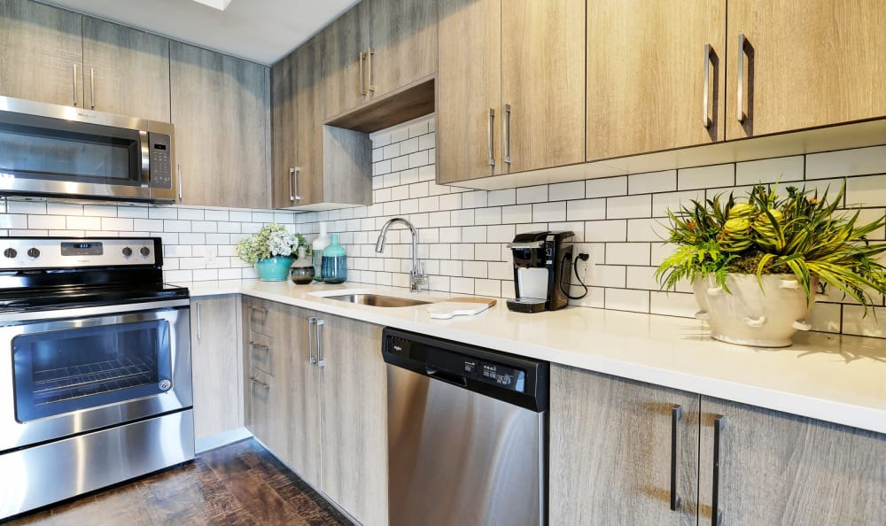 Modernly designed kitchen in our apartments at Casa Vera