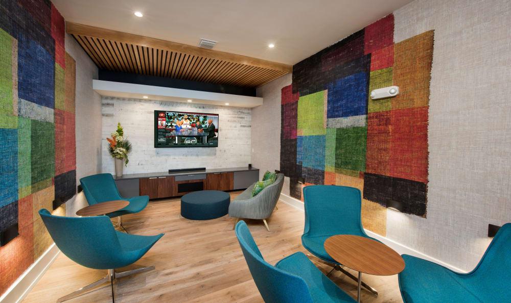 Brightly colored seating area at Casa Vera in Miami