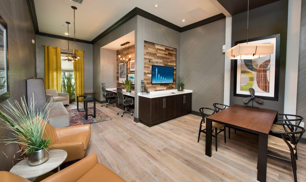 Clubhouse business center at Casa Vera in Miami