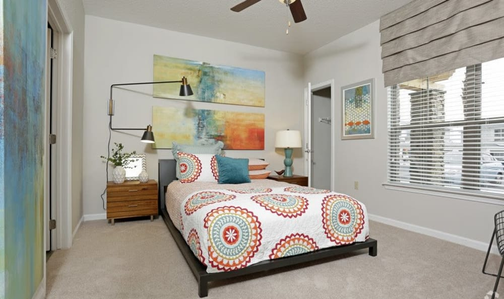 Comfortable bedroom in our Ocoee, FL apartments