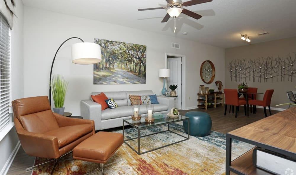 Spacious living room in Ocoee, FL