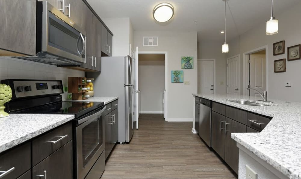 Example kitchen at Arbours at Crown Point