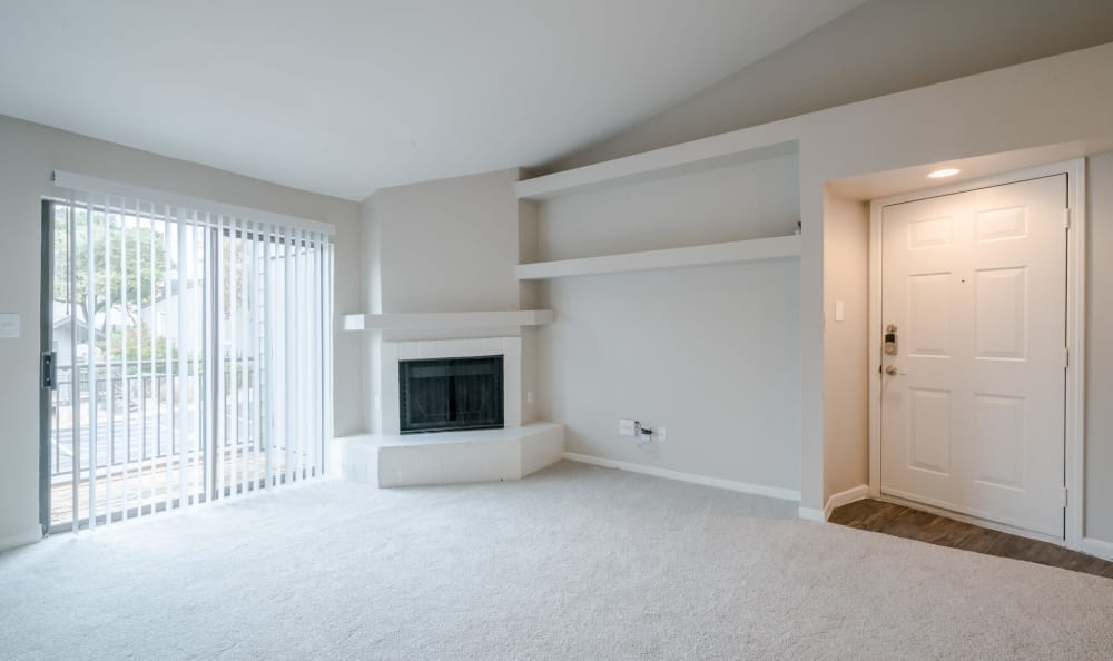 Beautiful livingroom at apartments in Austin, Texas